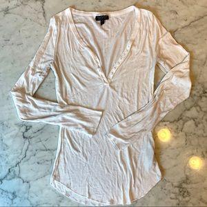 Topshop long sleeve button down size 6 shirt.